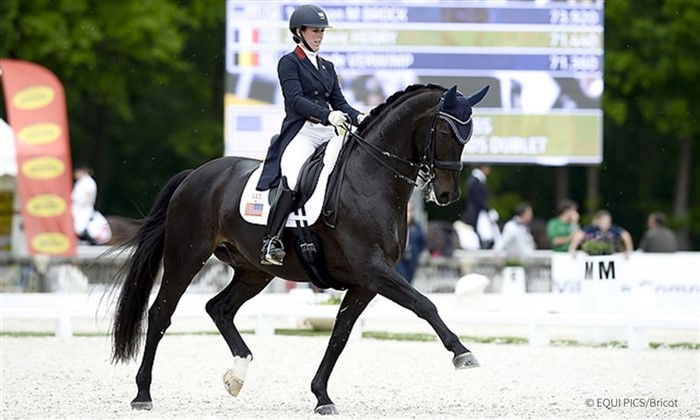 Kasey Perry-Glass and Gørklintgårds Dublét at the FEI Nations Cup in Compeigne 2016. Later that year they were on the bronze-winning U.S. dressage team for the Rio Olympics. Furthermore, they won the American Grand Prix Championship 2017.